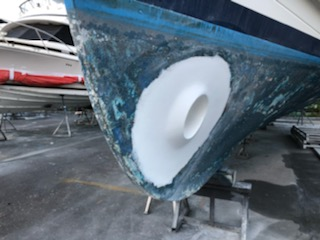 damaged bow thruster