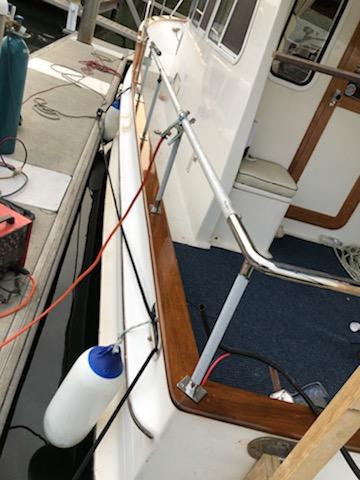 boat repair varnished teak capping