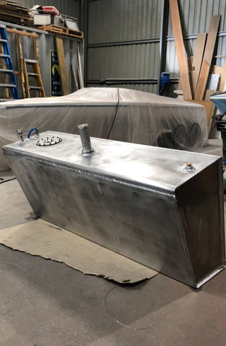 shipwrights and fabrication marine fuel tank