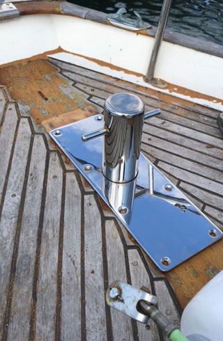 shipwrights and fabrication stainless steel sampson post