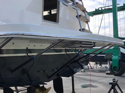 stainless steel struts stern platform